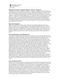 Resume Statement Of Intent Unique Cover Letter Masters Degree