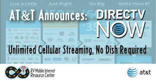 at t announces directv now unlimited cellular streaming no dish required