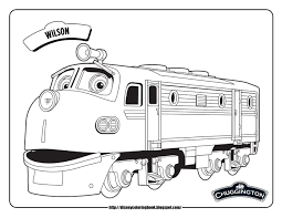 Small Picture chuggington coloring pages chuggington wilson train coloring