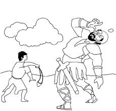 Free Coloring Pages David And Goliath Color Bros