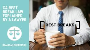 California Break Laws Chart 10 Minute Paid Rest Breaks For California Employees