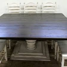 rustic square dining table. Square Farmhouse Table With Tuscany Pedestal By Jane Longden Rustic Dining