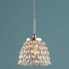 luxurious crystal mini pendant light