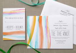 Wedding Invitations Watercolor Watercolor Wedding Invitations From Fine Day Press