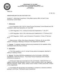Army Board Proceedings Memo