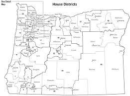 Oregon Blue Book Representative District Maps