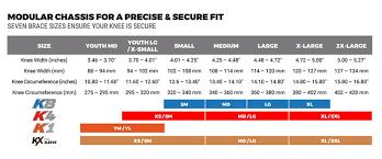 Pod Size Chart Product Pod K4 2 0 Kneebrace Transmoto