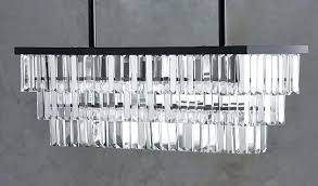 glamorous rectangle crystal chandelier pottery barn regent