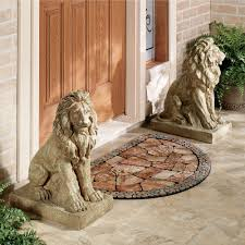 Small Picture Lions at Guard Sculpture Pair