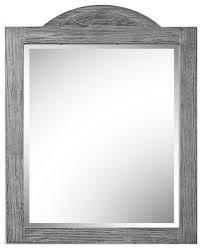 26 rustic solid fir mirror in grey 26