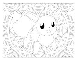Small Picture Eevee Coloring Pages Eevee Coloring Page Free Printable Coloring