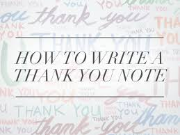 Interview Thank You Card Sample How To Write A Thank You Note A Real One