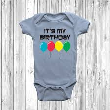 Birthday Vest Design Details About Its My Birthday Baby Grow Body Suit Vest Girl Boy 1st Bday Cute