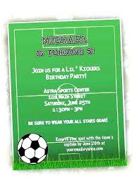 Soccer Party Invitation Template Sports Themed Invitation Template Birthday Invitations With