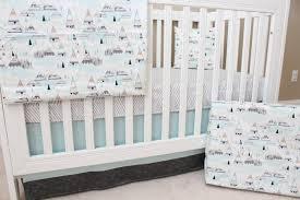 modern woodland crib bedding amusing best woodland crib bedding