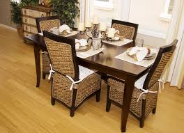 Rattan Kitchen Furniture Furniture Entiching Room With Rattan Dining Chairs In Brown With