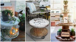 table design ideas. 16 Beautiful And Adaptable Spool Table Designs Design Ideas