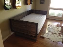 recycled barn wood and steel daybed sofa by kristina1love on Etsy.