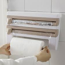 kitchen towel holder wall mounted. Pop Kitchen Roll Multi-purpose Racks Dispenser Cling Film Tin Foil Towel Holder Rack Wall Mounted
