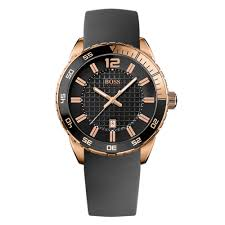 hugo boss rose gold plated men s watch 0001473 beaverbrooks hugo boss rose gold plated men s watch