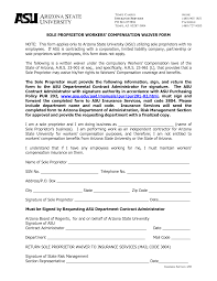 texas workers compensation waiver form