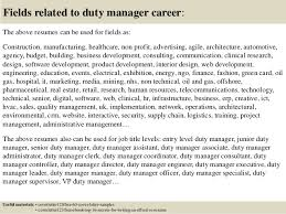 Collection Of Solutions Cover Letter Hotel Duty Manager Top 5 Duty