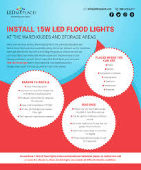 Install Flood Lights Outdoor Install 15w Led Flood Lights At The Warehouses And Storage