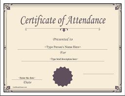 Unique Certification Of Attendance Sample Shawn Weatherly