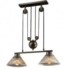 pulley lighting. 2-Lamp Pendant Light Pulley Type Lighting