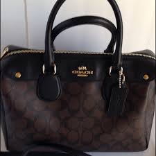 Coach Bennett Signature Satchel Handbag Excellent used condition signature  black brown PVC coated canvas Bennett