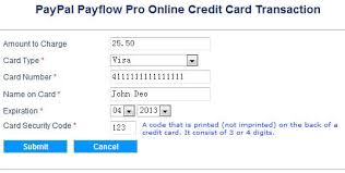 Online Credit Card Transaction In Asp Net Using Paypal