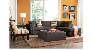 orange living room furniture. Calvin Heights Living Room Set Gray And Orange Furniture A