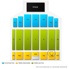 Casino Windsor Seating Chart The Colosseum At Caesars Windsor Tickets