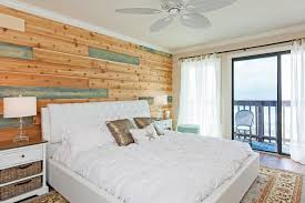 traditional beach house bedroom with a