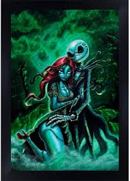 This creative handmade art is a perfect christmas, anniversary, birthday, valentines or a wedding gift. Amazon Com Jack And Sally By Joey Rotten Nightmare Before Christmas Framed Wall Art Print Posters Prints
