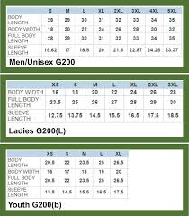 Gildan G500 Youth Size Chart Bedowntowndaytona Com
