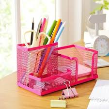 Mesh Office Supplies Desktop Organizer offers different compartment sizes  that are suitable for storing small stationery items.The visibility that  the mesh ...