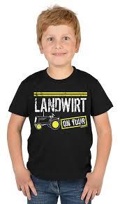 Landwirt On Tour Jungen Jungen Shirtkinder Spaß Shirtboy Shirt