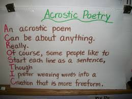 Acrostic Poetry Anchor Chart 6th Grade Scott Foresman