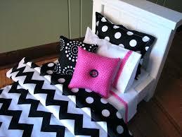 chevron bedding set for girl doll or similar dolls black white hot pink and comforter sets
