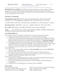 Resume Sample Two Page Resume