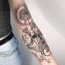 Tattoo Uploaded By Tattoodo Flower And Snake Tattoo By Pony