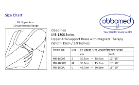Obbomed Mb 1800l Upper Arm Support Brace With Magnets For Tennis Elbow Golfers Elbow