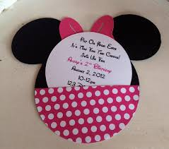 mickey mouse birthday invitations diy best sample minnie mouse images