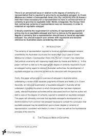 equitable estoppel essay equity and trusts thinkswap equitable estoppel essay
