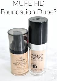 mufe hd foundation dupe makeup forever ultra hd foundation dupe dupes for high end makeup revlon airbrush effect review dupes for high end