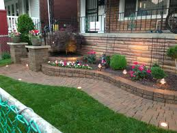 Decorative Stones For Flower Beds Raised Flower Bed With Decorative Stone And A Japanese Maple By