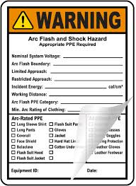 Nfpa 70e Ppe Chart Write On Nfpa 70e Arc Flash Ppe Warning Label