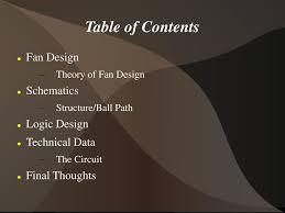 Fan Design Theory Table Of Contents Fan Design Schematics Logic Design