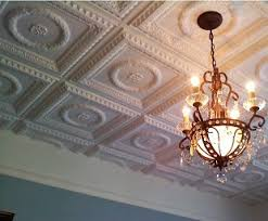 Beautiful Better Ceilings Glue Up Faux Tin Ceiling Tiles To Renew Your Ceilings